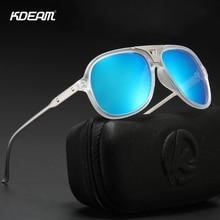 KDEAM Full-rim Pilot Sunglasses Polarized Men and Women 100% UV-protective Driving Sun Glasses Photochromic Lens with Case