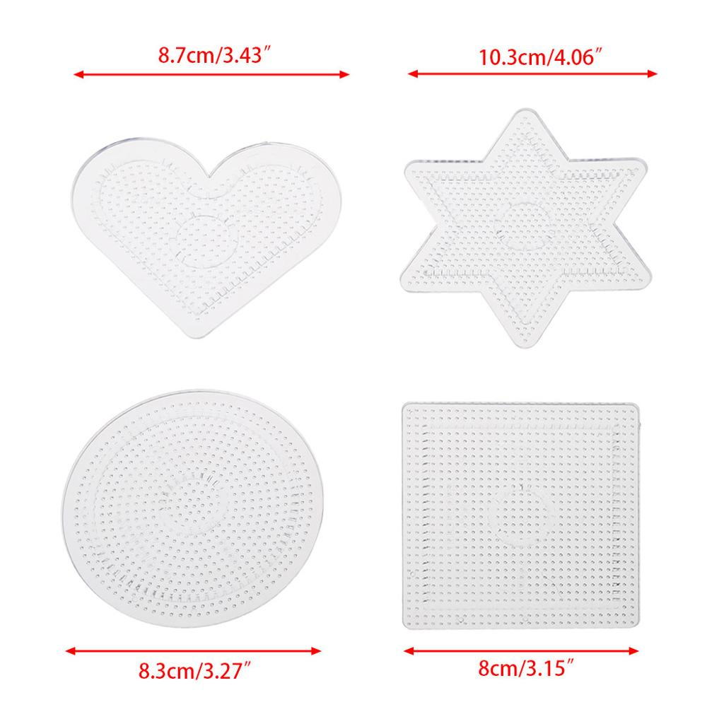 4Pcs Diy Transparent Shape Puzzle Template For 2.6mm Hama Beads Perler Beads