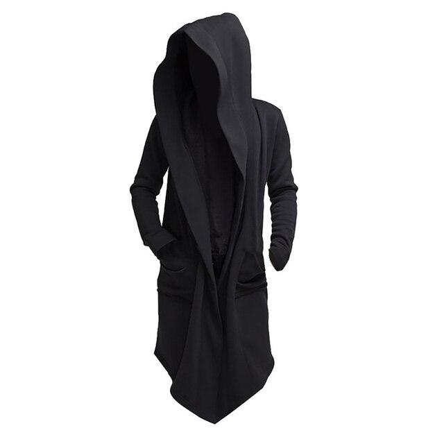 JODIMITTY 2021 Men Hooded Sweatshirts Black Hip Hop Mantle Hoodies Fashion Jacket long Sleeves Cloak  Coats Outwear Hot Sale 1
