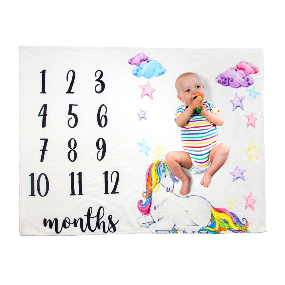Flannel Newborn Photo Background Baby Milestone Blankets Blanket Bathing Towels Flower Soft Blanket DIY Infant Photography Props