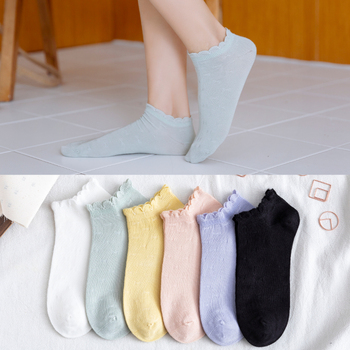 Candy Color Cotton Socks Casual Women Short Ankle Trendy Sweet Style Soft Cozy Ladies Girls Pure Hose japanese size35-40