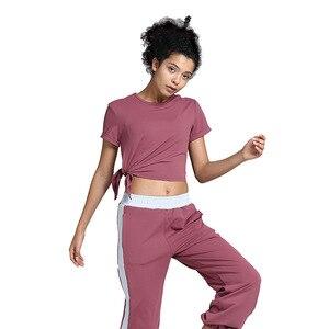 Image 2 - 女性のヨガの衣類のスーツ痩身ワークアウトの服スポーツスリムツーピーススーツセットプルオーバーポリエステル、スパンデックスnegroke