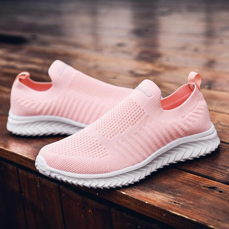 Low Knit Sporty Women's Shoes Running