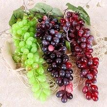 Новые искусственные фрукты, искусственный виноград, пластиковые поддельные фрукты, рождественские, домашние, праздничные украшения, имитация фруктов