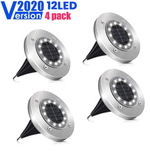 Solar Ground Lights 12 LED Solar Garden Lights Waterproof Outdoor Solar Disk Lights Landscape Lighting for Lawn Pathway Yard cheap RAIBOHO 12LED sloar ground light 3 Years IP67 None LED Bulbs ART DECO HOLIDAY Ni-MH
