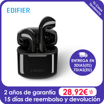EDIFIER TWS200 True Wireless Bluetooth 5.0 Earbuds for 24 hoursplayback time with noise reduction algorithm