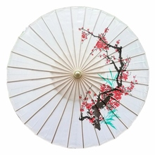 1PC Vintage Japanese style Plum flower design silk  umbrella Chinese parasol for wedding and dance props or as home decorations vintage chinese printed dance craft umbrella theme party decorative oiled paper parasol