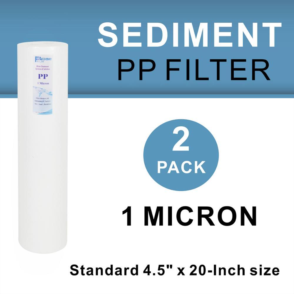 "2PK of Big Blue 5 Micron 20/"" x 4.5/"" Sediment Water Filter Cartridges"