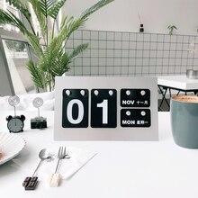 Yeniden kullanılabilir masaüstü takvim Yaratıcı Ofis Malzemeleri DIY Masaüstü Dekorasyon Takvimi