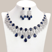 Jewelry-Set Necklace Bridal-Accessories Cubic-Zircon Indian Elegant-Style Luxury Colorful