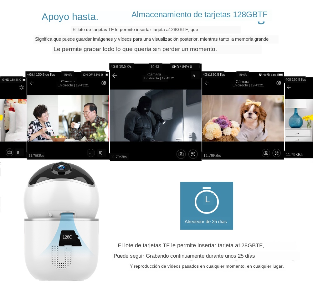 High Resolution Baby Monitor With Auto Tracking Mini Camera For Your Child Safety 14