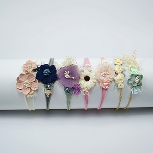 Детская головная повязка для новорожденных, аксессуары для волос с сердечками для маленьких девочек, головной убор с цветочным узором для д...