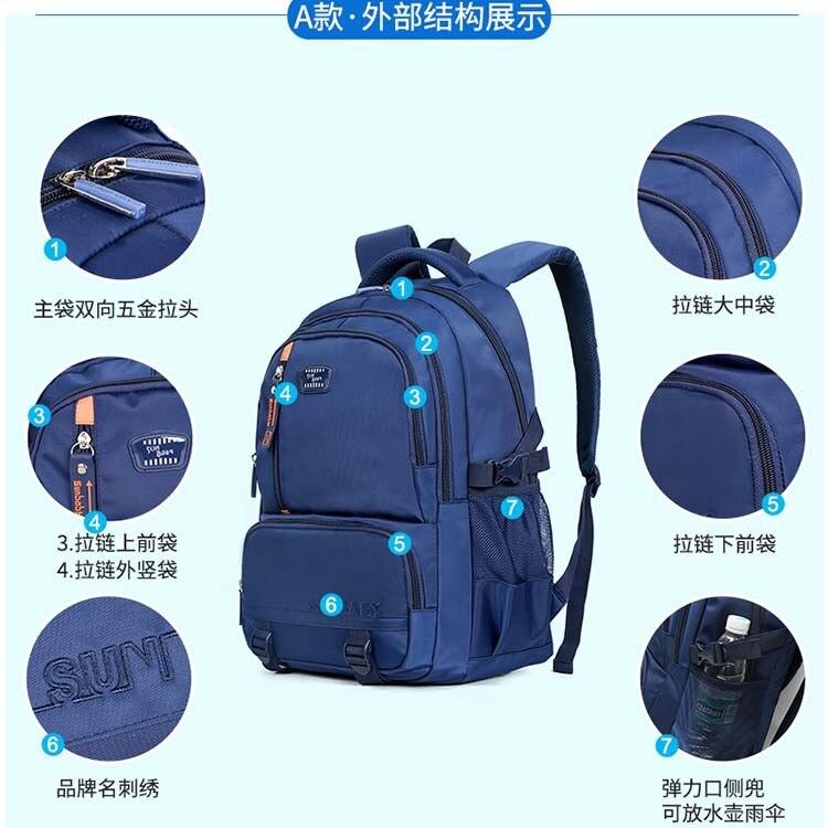 CHILDREN'S School Bags Sun Item 3-6 Grade Customizable Logo Wear And Dirt School Bag Schoolbag For Elementary School Students