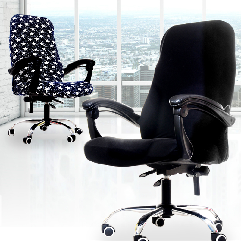 S/M/L Sizes Office Stretch Spandex Chair Covers Anti-dirty Computer Seat Chair Cover Removable Slipcovers For Office Seat Chairs 1