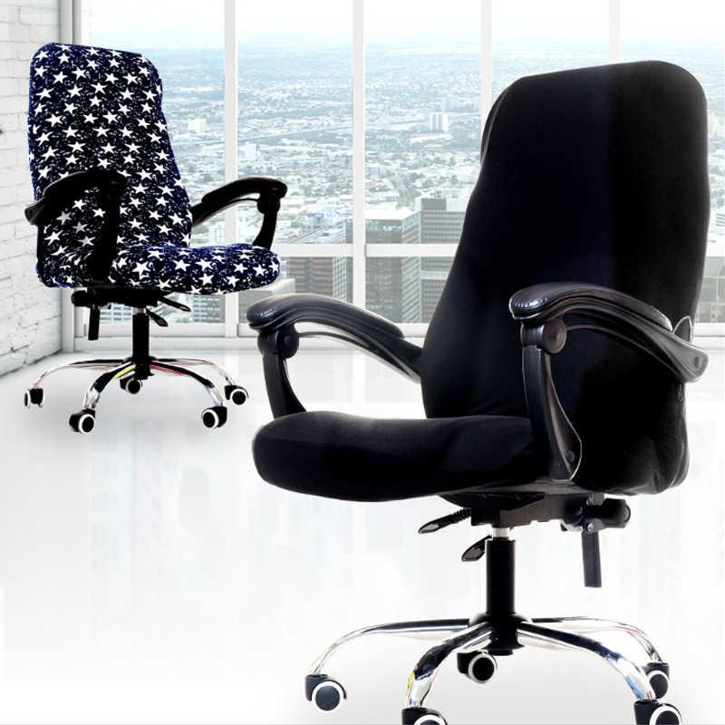 S/M/L Escritório Cadeira Elástica Cadeira Cobertura Anti-sujo Tampas de Assento Para A Cadeira Do Computador Cadeira de Tampa Removível tampas de Assento Para Cadeiras de casa