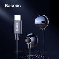 Baseus C06 USB Tipo-c del Trasduttore Auricolare Stereo Auricolari Audio Con mi c per Xiao mi mi 9 8 se nota 3 Huawei p30 pro compagno di 20 pro Oppo Trovare X
