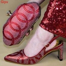 Doershow очень красивая искусственная Новинка 2019 Женская обувь Женская Итальянская обувь с подходящими сумками в комплекте!