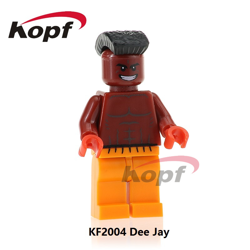 KF2004 Super Heores Model Building Blocks Dee Jay Thunder Hawk Chun-Li Cammy Akuma Bricks Figures Collection Children Gift Toys image