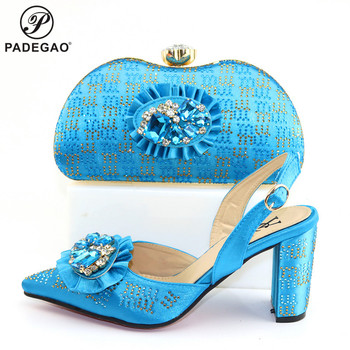 Special Shoes and Hand Bag to Match High Quality African Lady Shoes and Bag Set Mature Style Nigerian Design Shoes Matching Bag