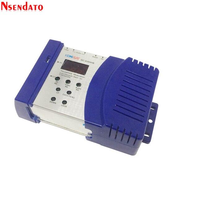 Modulador portátil padrão da frequência ultraelevada vhf pal/ntsc do conversor do receptor da tevê do rf