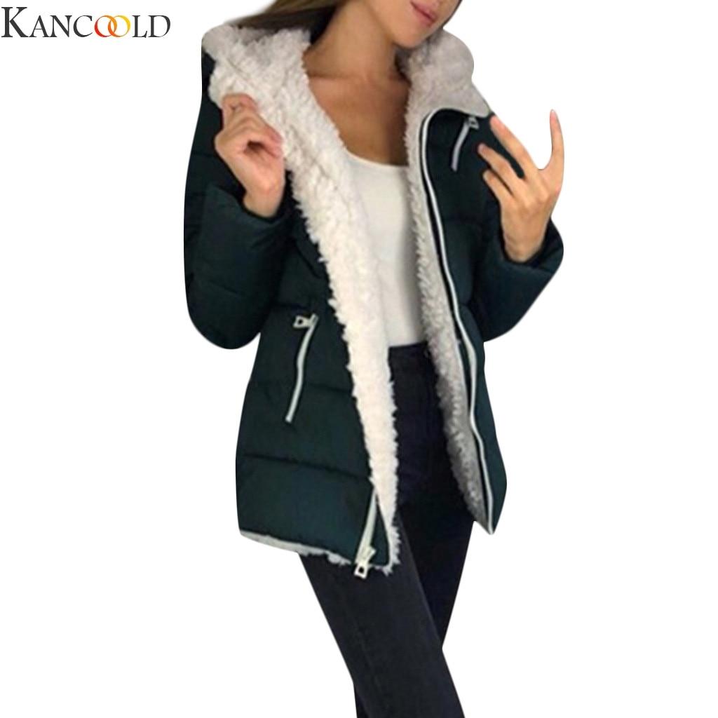 KANCOOLD Women Autumn Winter ArmyGreen Coat fashion female new zipper sweaters lapel Black Pink Blue loose fur jacket outerwear|Faux Fur| - AliExpress