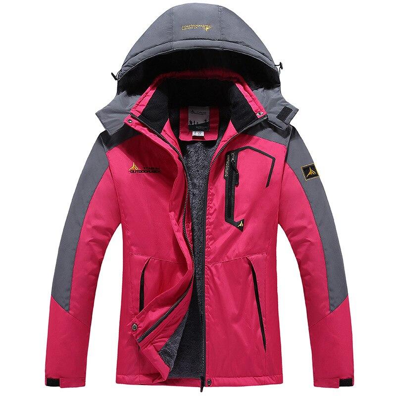 Winter Parka Women Windbreak Velvet Thick Warm Windproof Fur Coats Female Hooded Anorak Ski Jackets Girl's Outwear Overcoat|Hiking Jackets| |  - title=