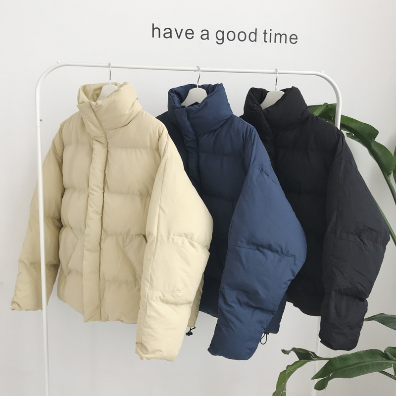 Thick Hong Kong Style 2019 Winter New Korean Origional Loose-Fit Hipster Cotton-padded Clothes Couples Trend Versatile MEN'S Cot