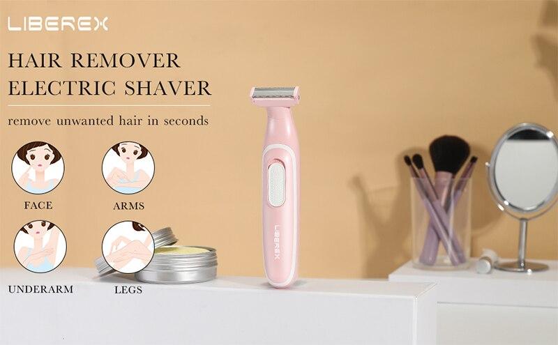 Liberex mulheres razors barbeador rosto corpo aparador
