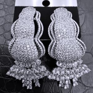 Image 2 - GODKI Trendy Curtain Tassels African Earrings For Women Earrings Geometric Drop Earring 2020 Brincos Female DIY Fashion Jewelry