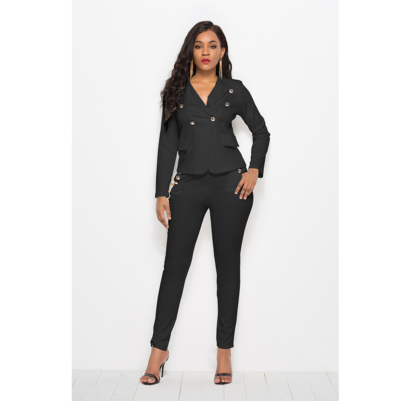 Women Pant Suits Formal Sexy New Casual Fashion Women's Suit Long Sleeve Women Blazer Korean Style Women Pant Suits for Women