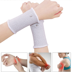 Image 3 - NEW Conductive Silver Fiber TENS/EMS Electrode Therapy Gloves+Socks+ Bracers + Cable Electrotherapy Unit For Phycical Therapy