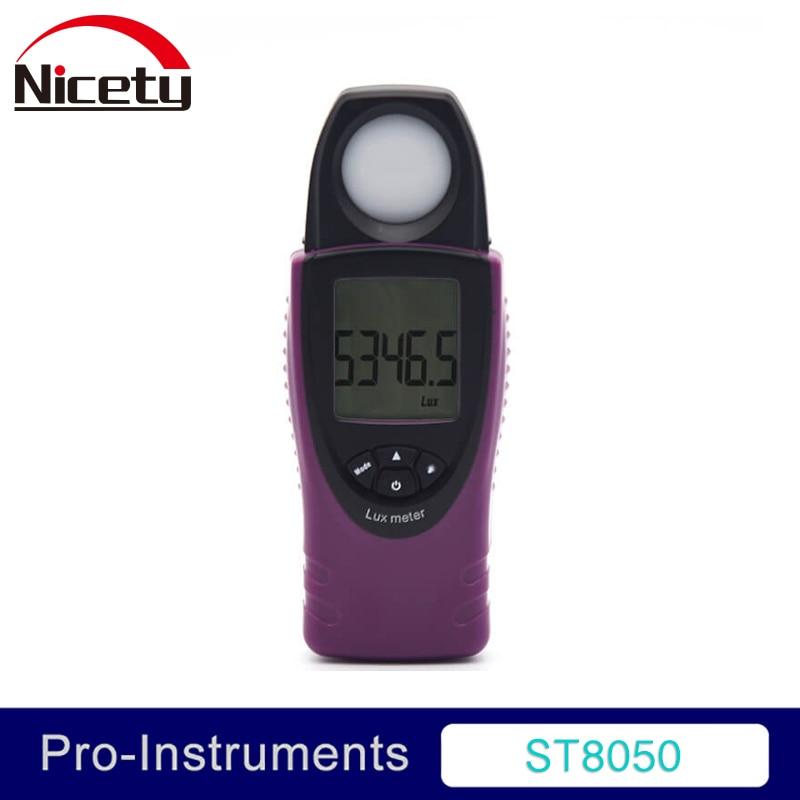 نور سنج ST8050 قابل حمل FC / LUX نمایشگر 30000 لوکس اندازه جیب فوتومتر سنج نور سنج دیجیتال لوکس متر نور GR