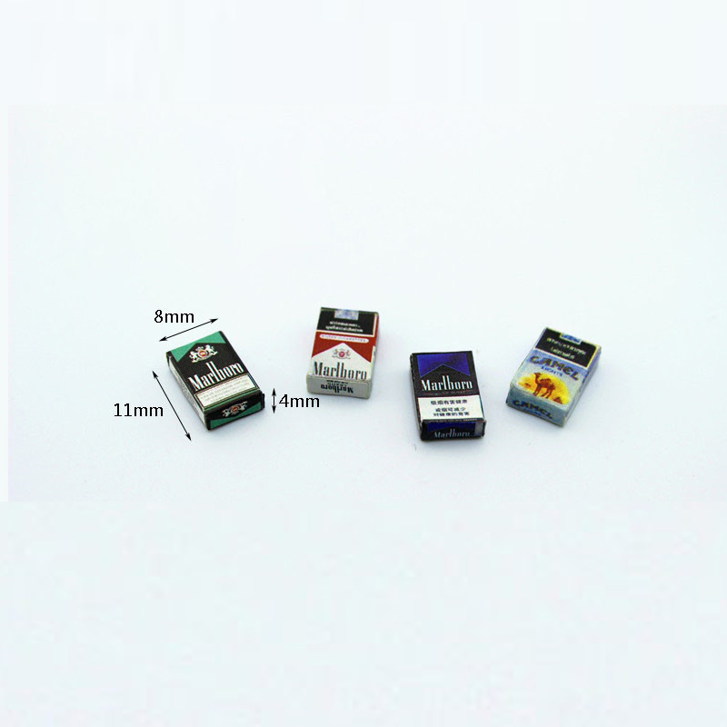 1/12 Dollhouse Miniature Accessories Mini Cigarette Case Simulation Box Model Toys For Doll House Decoration Pretend Play Toys