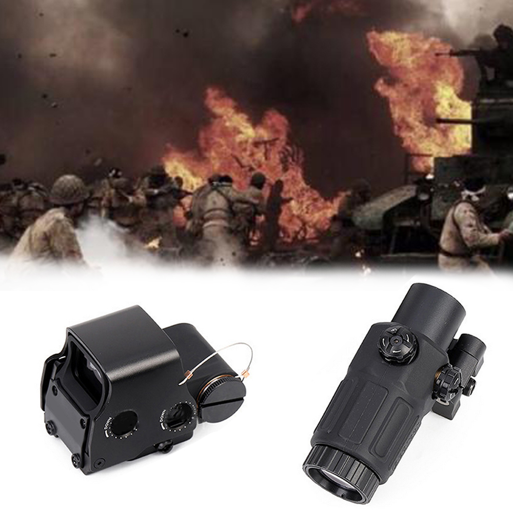 Tactical <font><b>558</b></font> Collimator Holographic Sight <font><b>Red</b></font> <font><b>Dot</b></font> Optic Sight Reflex Sight for Shotgun with G33 Magnifier for Airsoft&Softair image