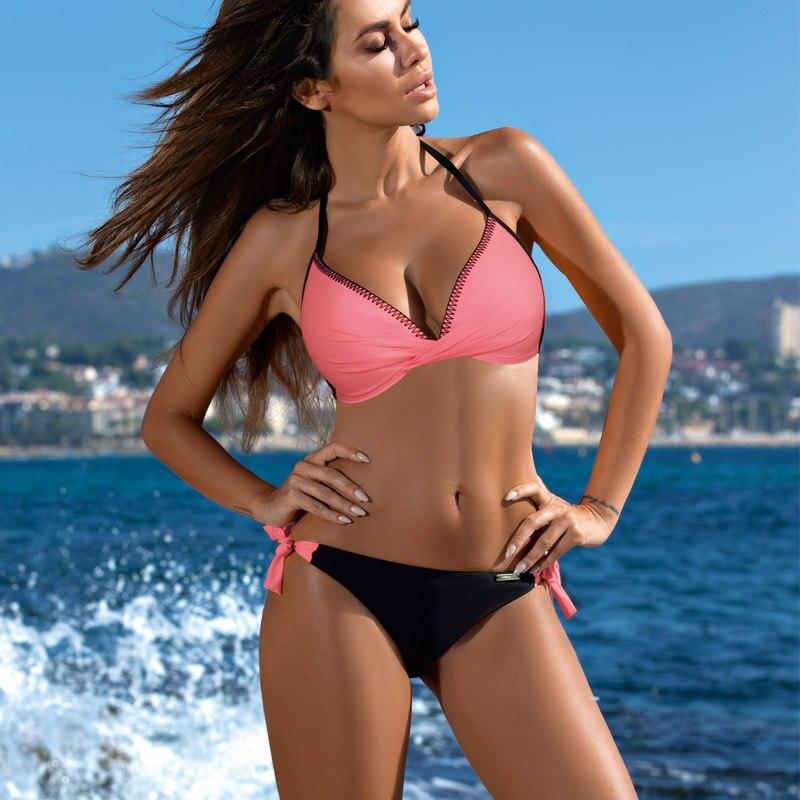 Бикини пуш-ап, сексуальный комплект бикини с принтом, купальник, летний купальный костюм, пляжная одежда,, женский купальник, бикини, купальник, бикини, XXL - Цвет: BK847WR2