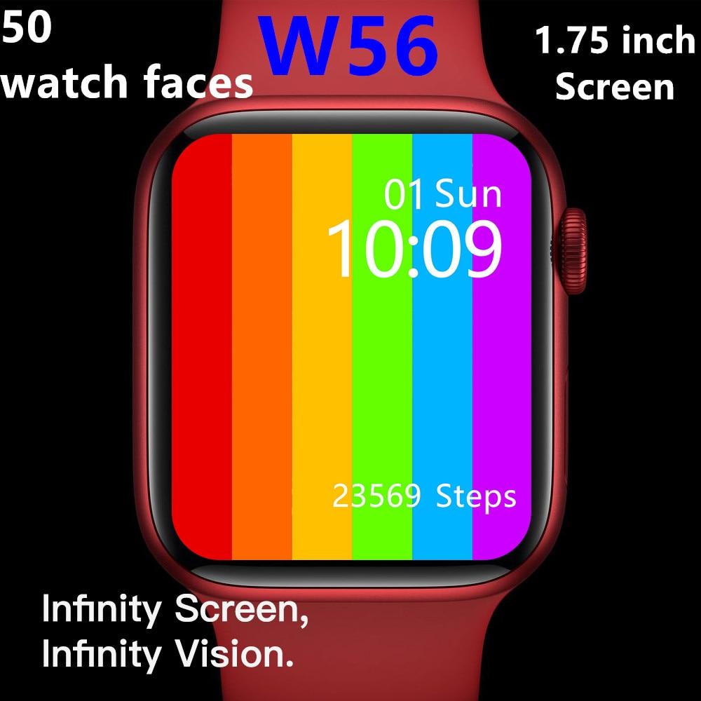Permalink to IWO13 W56 Smart Watch 2021 44mm Strap Wireless Charging Bluetooth Call ECG Heart Rate Temperature PK IWO 12 13 W26 Pro W66