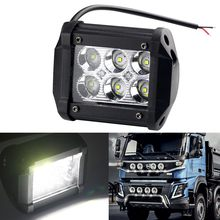 1pcs 18W Offroad LED Work Light 4Inch Bar Spot-light Daytime Running Lamp Headlight Super bright For Jeep SUV Truck Tractor 4x4(China)