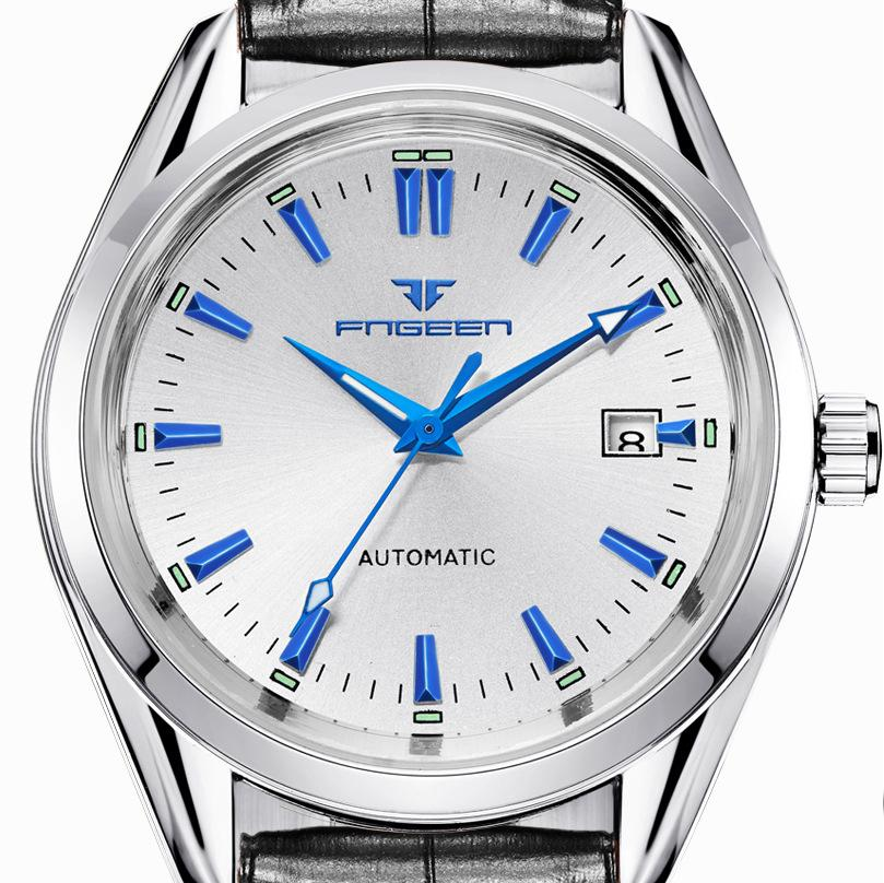 Mechanical Wristwatch Top Brand Luxury Watches Male Luminous Calendar Waterproof Stainless Steel Automatic Mens Wrist Watches