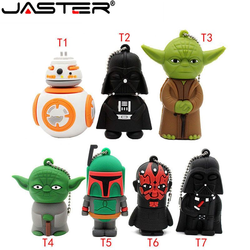 JASTER USB Flash Drive Gifts Star Wars Pen Drive 4gb 8gb 16gb 32gb 64gb Star War Dark Darth Vader Usb Pendrive Memory Stick