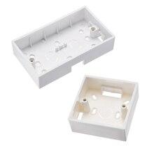 Uxcell 1/2/3/6/10 шт. настенная коробка переключателей электрическая розетка заподлицо 86 Тип одного комплекта, белый ПВХ огнестойкий Материал