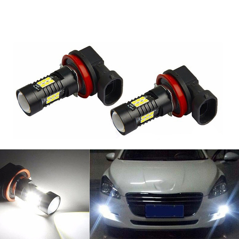 2x Super White <font><b>H8</b></font> H11 <font><b>CREE</b></font> Chip <font><b>LED</b></font> Fog Light Driving Bulbs For FORD MONDEO MK3 MK4 C-MAX S-MAX FOCUS 01+ FUSION image