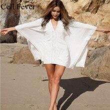 Beach Cover Up 2019 New Women Solid Bikini Swimsuit Summer Dress Loose Bathing Suit Ups Pareo Robe De Plage