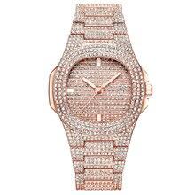 Топ Роскошные Брендовые женские часы с бриллиантами сталь ремень