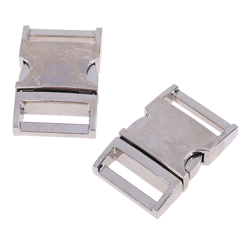 3Sizes <font><b>15mm</b></font> 20mm 25mm Metal Side Release Curved <font><b>Buckles</b></font> For Bracelet Dog Cat Collar <font><b>Buckles</b></font> DIY Accessories image