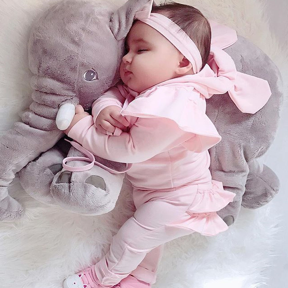 Toddler Kids Baby Girls 2 Pieces Clothes Set Pink Ruffle Hoodies Tops Pants Tracksuit Outfits Clothes 0-24M