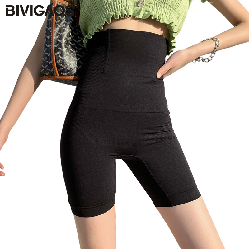 BIVIGAOS Elastic Body-Shaping High Waist Shorts Women Corset Slimming Short Skinny Slim Shortpants Sexy Biker Shorts Panties 1