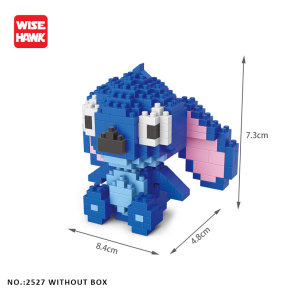 Image 3 - Wise Hawk Building Blocks Stitch Anime Kawaii Cartoon Micro  Mini Bricks DIY Model  Kit Educational Toys For Kids