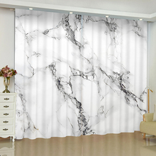 Marble stripe curtains for window Geometric Simple blinds finished drapes blackout parlour room