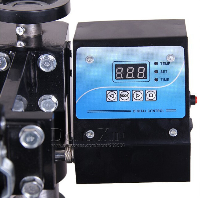 Free Shipping 110V/ 220v Mug/Plate/Stone Photo/T-shirt Heat Press Machine Digital Control Box Temperature Control White Or Black