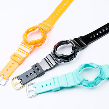 Natural Resin Suitable for Casio Baby-G BA-111 BA-110 BA-112 BA-120 BA-125  watch accessories lady Watch band casio watch fashion trend cool dual color waterproof sports electronic watch ba 110ga 1a ba 110ga 7a1 ba 110ga 8a